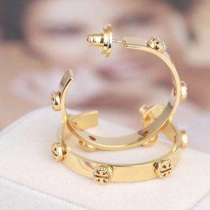 Tory Burch Golden Hollow Logo Dream Earrings